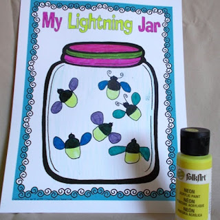 Back to school Read-Aloud book, When Lightning Comes in a Jar.  It's a great book to share with your kids and spark some great discussions about families and summer adventures.