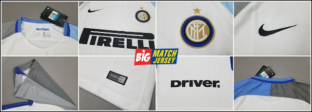 Detail Jersey Bola Terbaru Inter Milan Away Official Musim 2017-2018 Grade Original