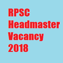 RPSC Headmaster Vacancy 2018
