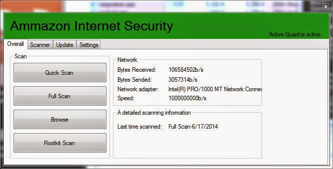 Ammazon Fake Internet Security