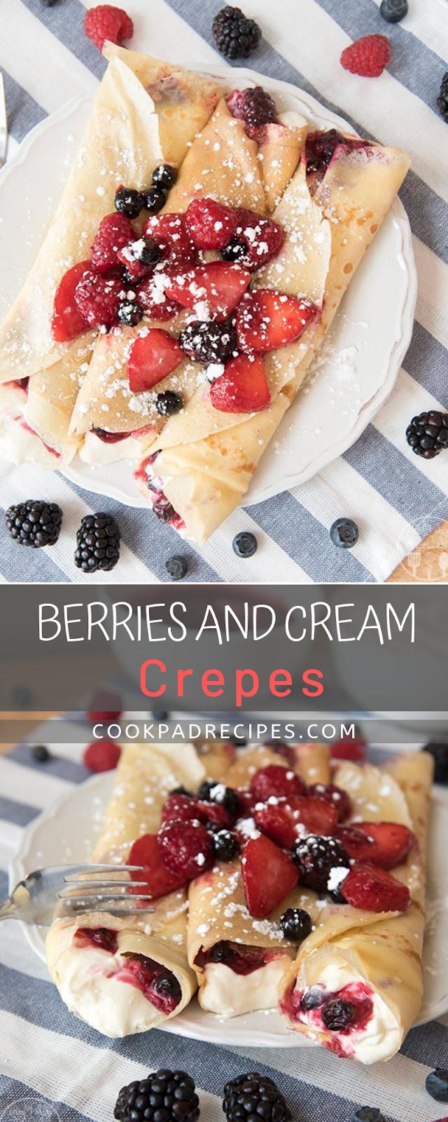 Bеrrіеѕ аnd Cream Crepes