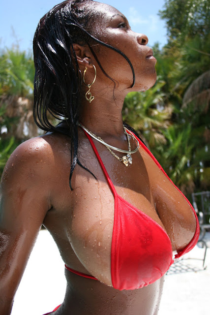 Hot Ebony Model In Bikini