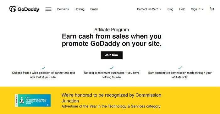 GoDaddy refer and earn