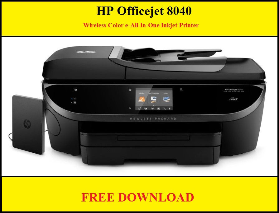 HP Officejet 8040 Wireless Color e-All-In-One Inkjet Printer