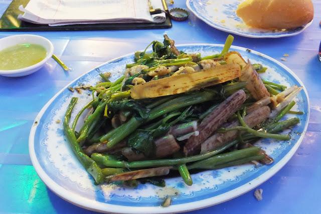 bamboo-shell-dish マテ貝と野菜炒め