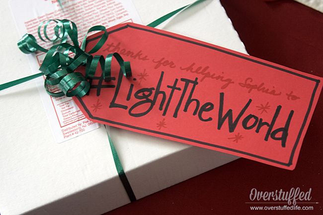 #LightTheWorld gift tag