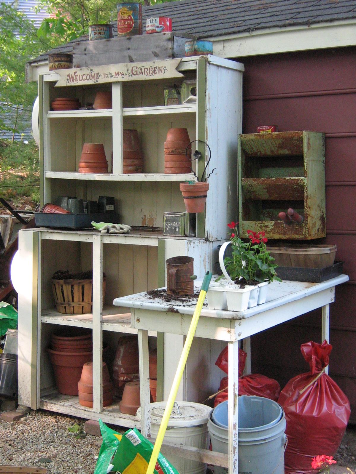 Vintage Values My Potting Bench