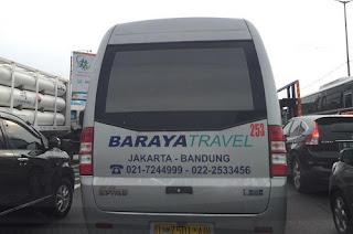 Alamat, Nomor Kontak, dan Rute Baraya Travel Bandung ke Jakarta