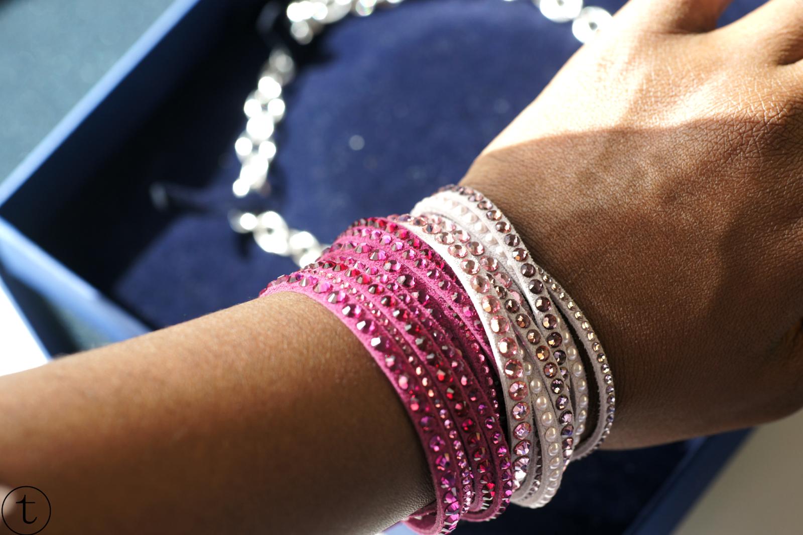 swarovski pink slake bracelets