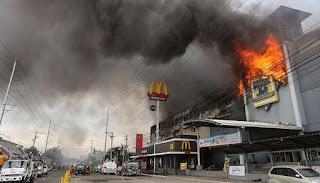 Incendie dans un centre commercial aux Philippines