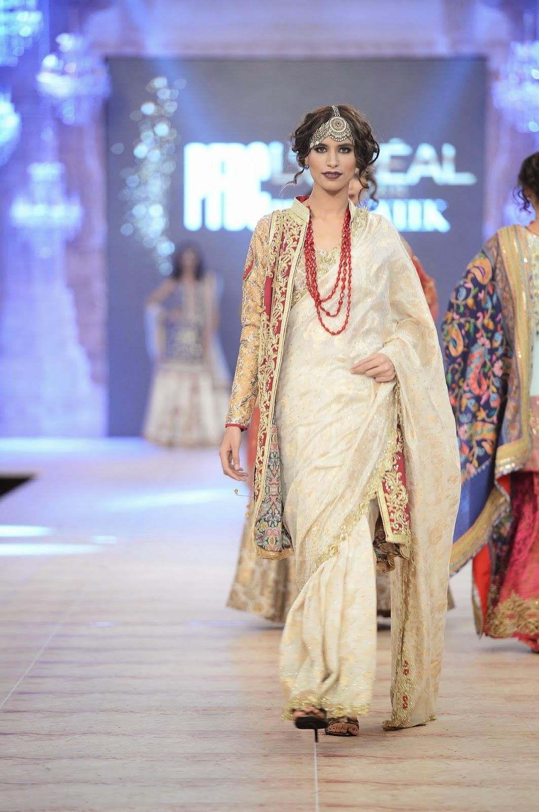 white gold sari