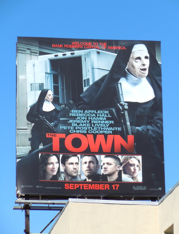 Town movie billboard