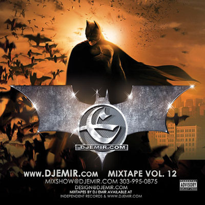 Batman Mixtape Cover Design Front