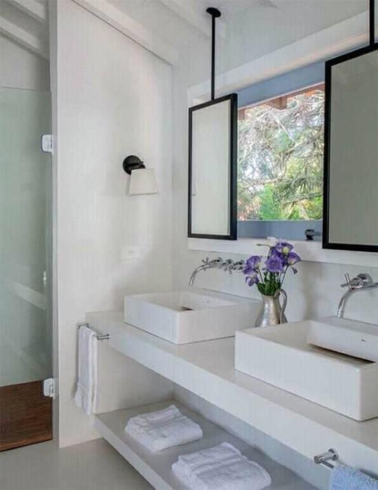 desain  inspiratif wastafel kamar mandi minimalis