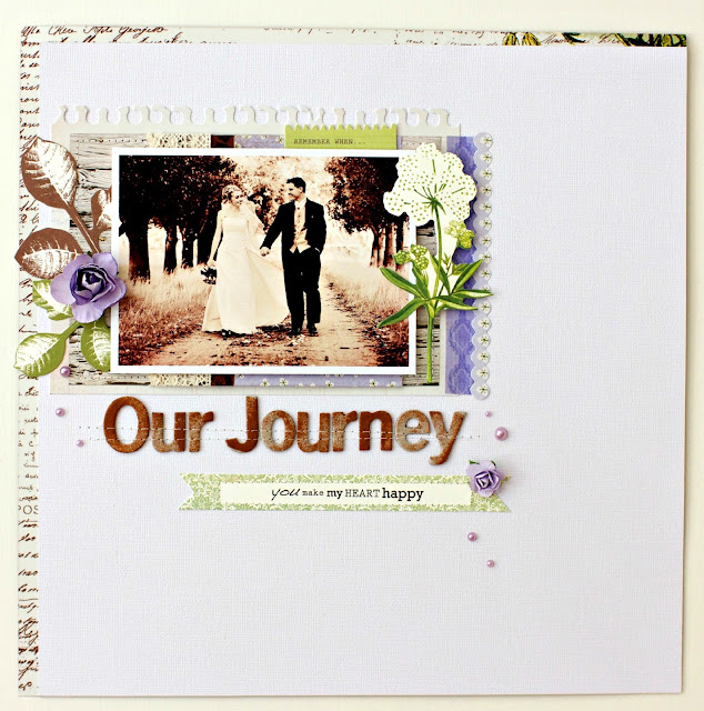 """Our Journey"" Layout by Alicia McNamara"
