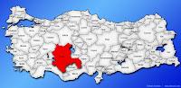 Konya ilinin Türkiye haritasında gösterimi