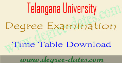 Telangana University degree time table 2018 TU ug exam dates