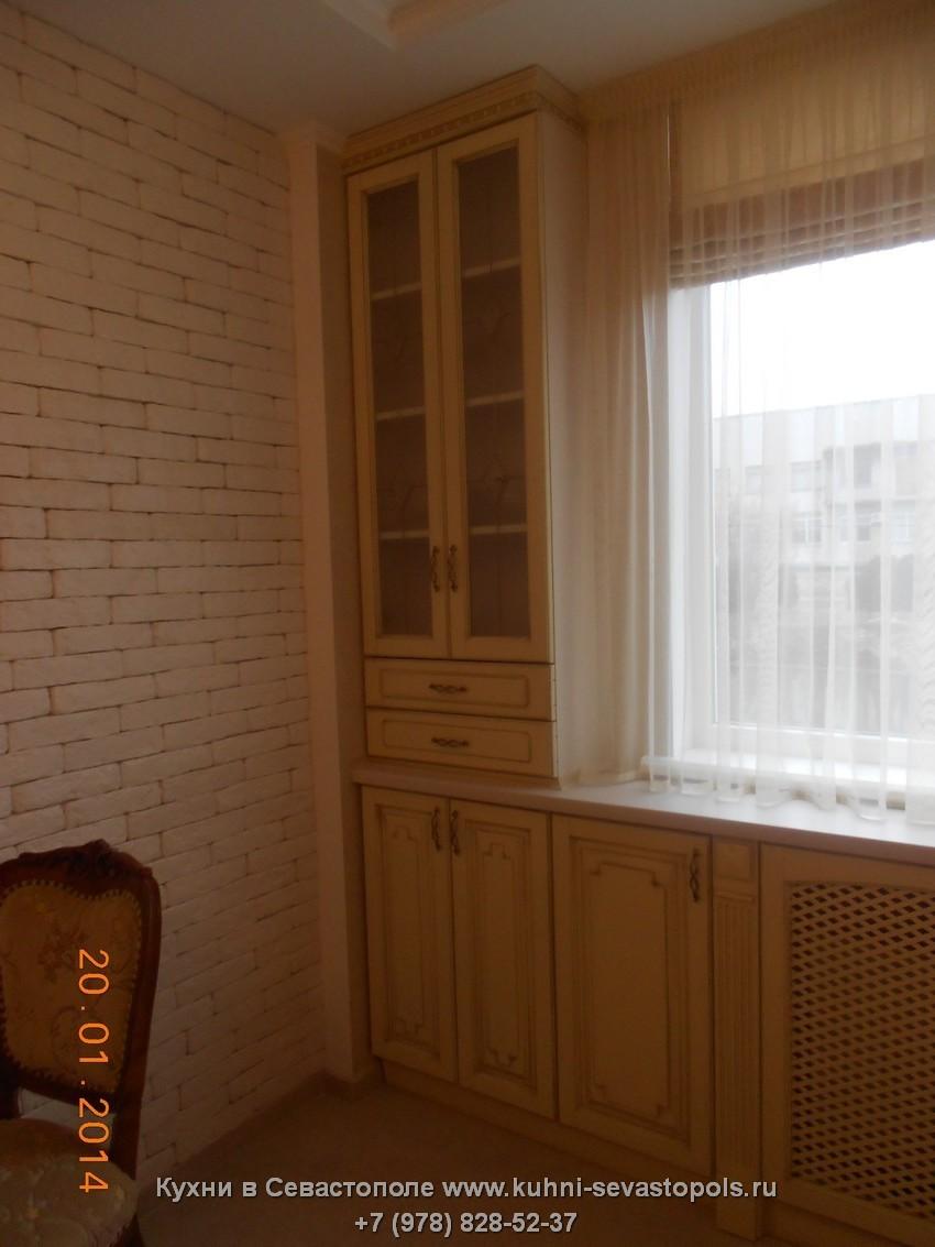 Деревянная кухня гостиная Севастополь