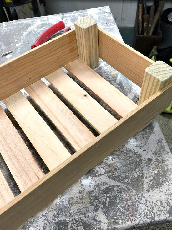 Wooden crate in workshop