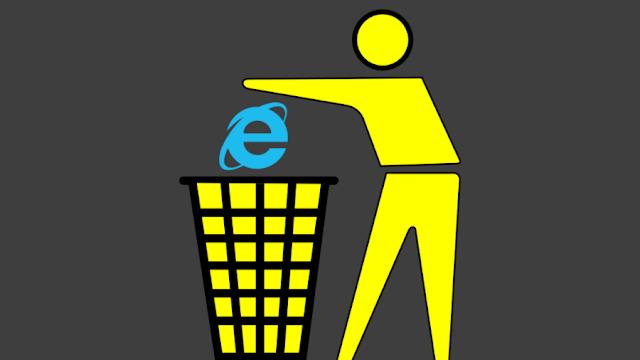 ازالة internet explorer من ويندوز 10