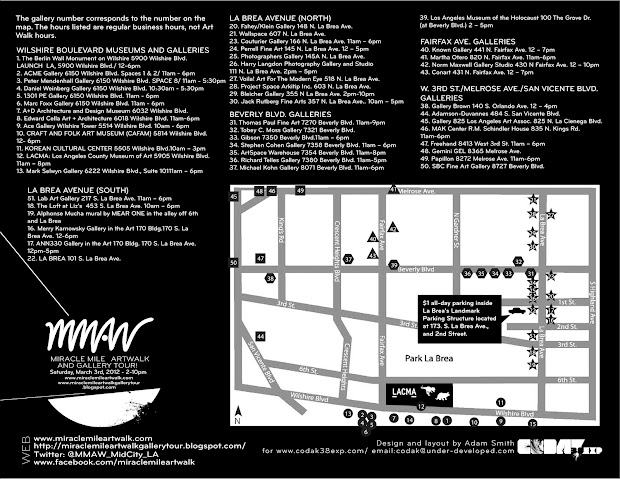 Miracle Mile Art Walk Studio And Tour Flyer