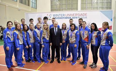 Russian President, sportsmen.