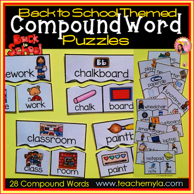Compound Words for Back to School theme