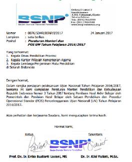 Download Surat Edaran BSNP Penandatangan SKHU Tahun 2017