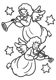Desenho de anjinhos para colorir