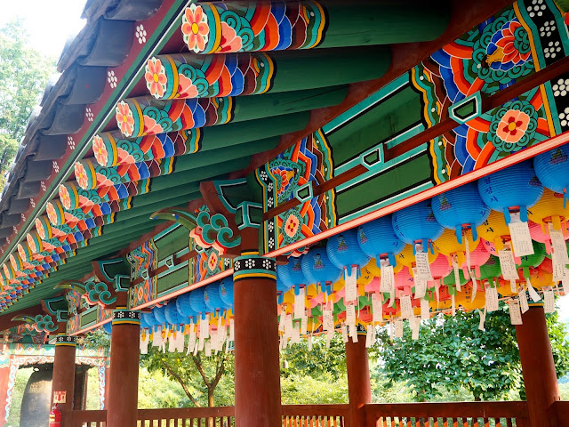 Colourful lanterns and decoration on Cheongpyeongsa temple, outside Chuncheon, South Korea