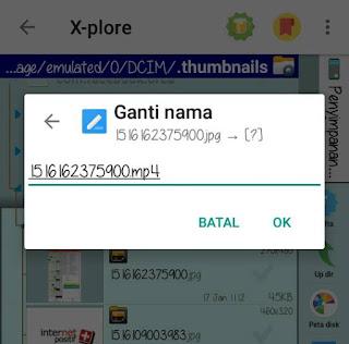 cara hiden file seperti gambar, video, dll di android tanpa aplikasi tambahan