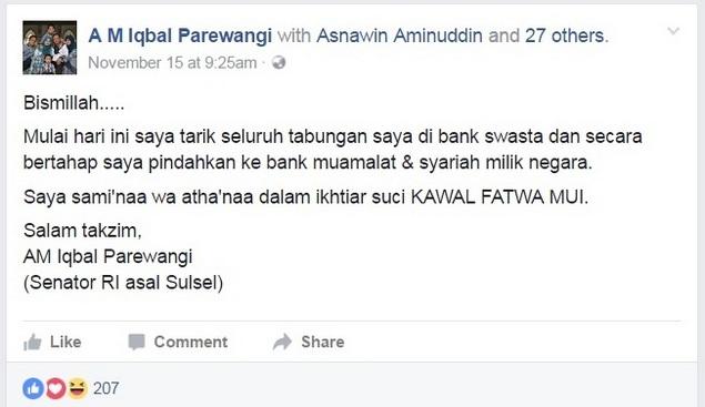 status fb AM Iqbal Parewangi