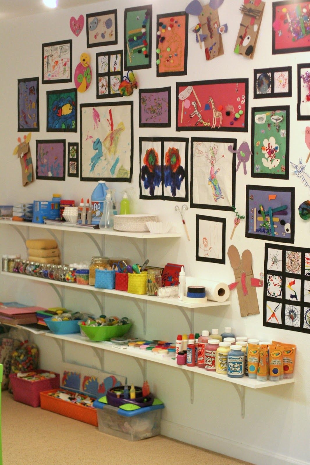 Playroom Design Our Art Room From Fun At Home With Kids