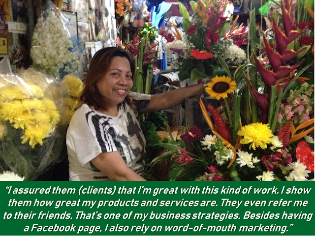 "A former overseas Filipino worker (OFW) decided to stay in the Philippines for good and started a flower shop instead. With the money she saved from working overseas, she can enjoy a good life without having to work abroad and leave her family behind. She advises aspiring florists to take the next step forward and pursue what they love. ""To those who plan on starting their own flower shop, I suggest they go for it. This is a growing business with a lot of potentials. Everyone can be a great entrepreneur if they put their mind to it. You'll never fail if you always believe in your passion,"" she said.   Advertisement         Sponsored Links         When Lovie Pascual returned to the Philippines in 2012, she never thought that she would finally stay for good. ""My original plan was to have a vacation. But then I had the idea of opening my own flower shop out of the blue while I was staying here with my family. Suddenly, I found myself surfing the Internet and looking for a commercial space that I can lease,"" Pascual cheerfully recalled.  The former head florist for Hessa bint Ali Al Khalifa–the wife of the incumbent prime minister of the Kingdom of Bahrain–now runs her own flower shop located at the Manila Flower Center (also known as Dangwa) in Sampaloc, Manila.   To start her own business, she used her savings when she was still working overseas. She was able to use it as a capital to kickstart her business.   The peak season of flower shops usually last from October to June, according to Pascual.   Financial losses are some of the challenges a flower shop owner has to endure, especially when the non-peak season starts to arrive. But the 50-year old florist assured that since the peak season usually lasts longer, the losses are automatically gained back before April's end. ""We Filipinos are used to sacrificing things to earn. When it comes to working hard, nothing will beat us,"" she stated.  There's no doubt that a flower shop is a promising business opportunity for aspiring entrepreneurs. ""There is certainly a market for flowers here in the Philippines. It's always in demand since they can be bought and be given at any time, and more often, flower arrangements are a must in several personal occasions like birthdays, weddings, and family gatherings,"" Pascual shared.  For this florist, client satisfaction and consistency in delivering quality services have played a crucial role in attaining her flower shop's success.   READ MORE: Recruiters With Delisted, Banned, Suspended, Revoked And Cancelled POEA Licenses 2018  List of Philippine Embassies And Consulates Around The World     Classic Room Mates You Probably Living With   Do Not Be Fooled By Your Recruitment Agencies, Know Your  Correct Fees  Remittance Fees To Be Imposed On Kuwait Expats Expected To Bring $230 Million Income    TESDA Provides Training For Returning OFWs   Cash Aid To Be Given To Displaced OFWs From Kuwait—OWWA      Former OFW In Dubai Now Earning P25K A Week From Her Business    Top Search Engines In The Philippines For Finding Jobs Abroad    5 Signs A Person Is Going To Be Poor And 5 Signs You Are Going To Be Rich    ©2018 THOUGHTSKOTO  www.jbsolis.com"