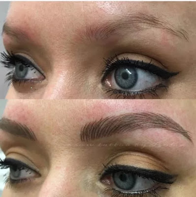 Microblading eyebrows Before After