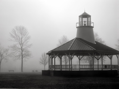 foggy morning, Chesapeake Bay, lighthouse, Heide Braley, Maryland