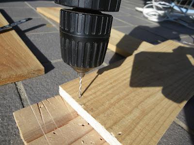 杉板 下穴 電動ドリル