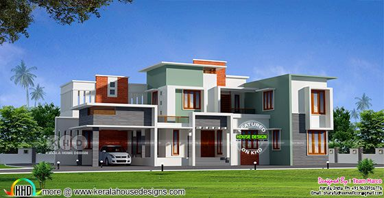 Box type modern contemporary home 2962 sq-ft