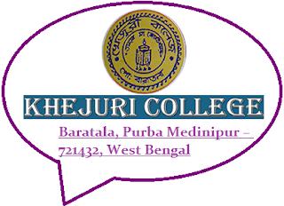Khejuri College, Baratala, Purba Medinipur – 721432, West Bengal