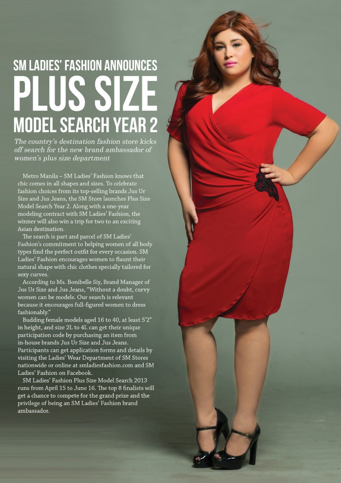 sm ladies plus size model search year 2 fashion eggplant