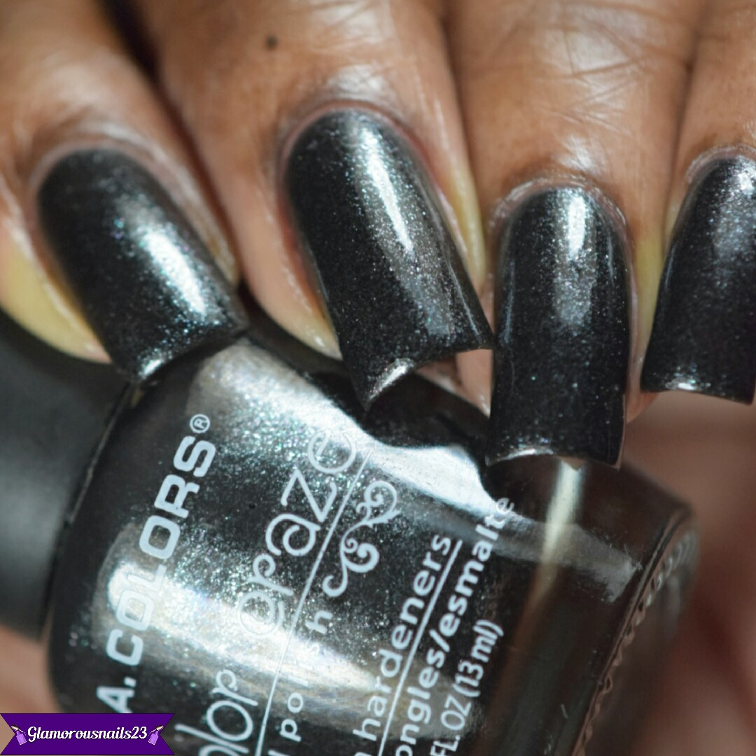 L.A. Colors Black Pearl Swatches & Review - Glamorousnails23