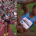 Lobatan!  Nigerian athlete, Blessing Okagbare loses her wig during long jump in Oslo