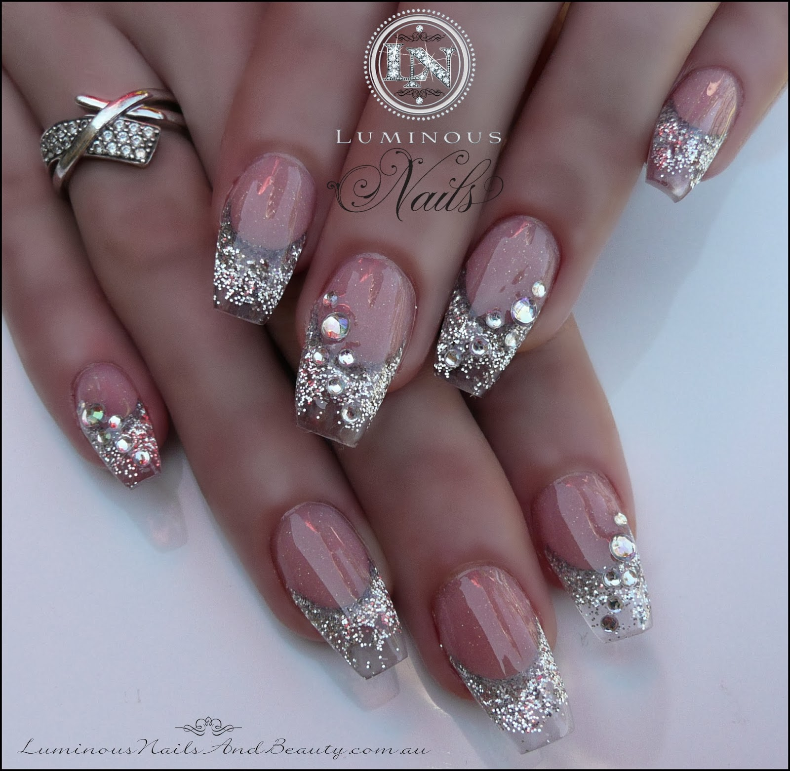 Christmas Nails With Glitter: Luminous Nails: November 2013