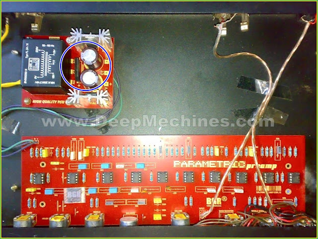 Audio Parametric preamp dengan Power Stabilizer 7815/7915