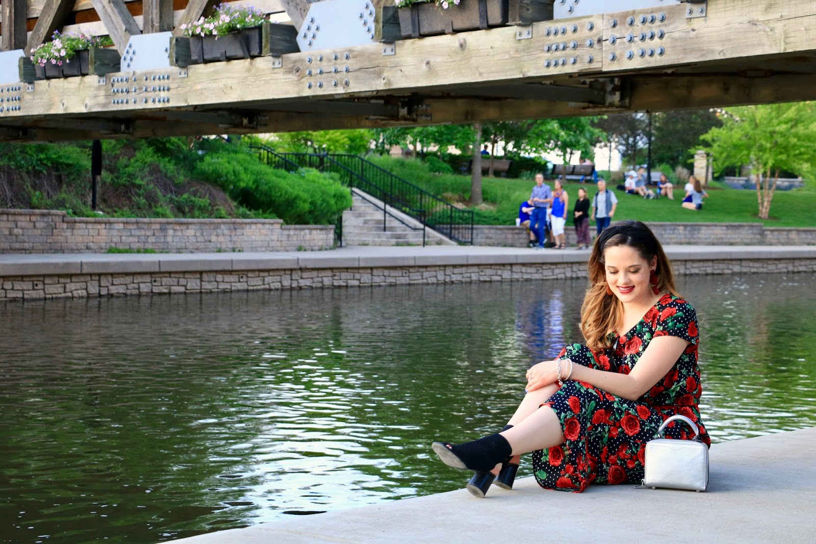Nyc fashion blogger Kathleen Harper showing how to wear a jumpsuit in summer
