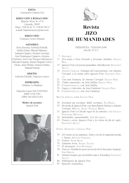 Revista Jizo de Humanidades, nº 7, Ignacio Prat, Ancile