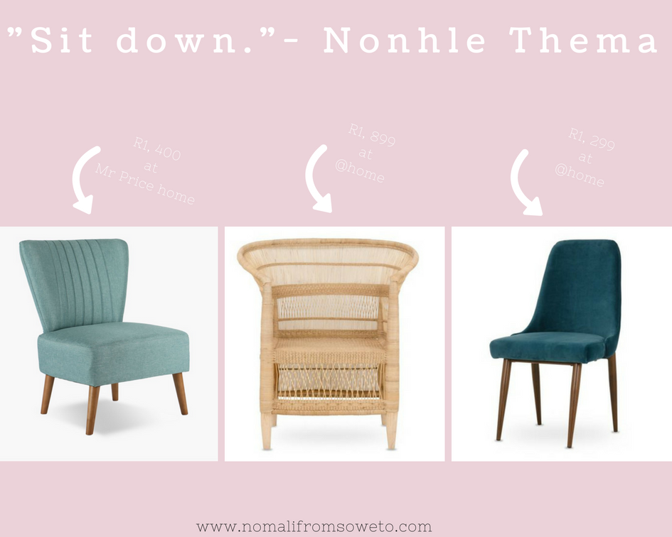 south african lifestyle blog, chairs from mr price home, home interiors blog,Great chairs from Mr Price Home and @home