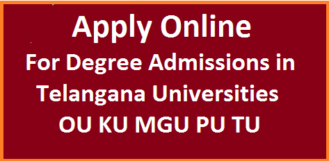 DOST- Degree Online Services in Telangana. The Students with inter passed qualifications who are seeking admissions in to UG courses B.Sc,B.Com,B.A Have to apply online to get admissions in Osmania University Palamuru University Telangana University Mahatmagandhi University Kakatiya University At official website www.dost.cgg.gov.in  dost-online-application-form-for-degree-admissions
