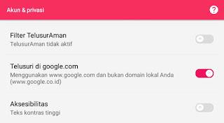 setting app google