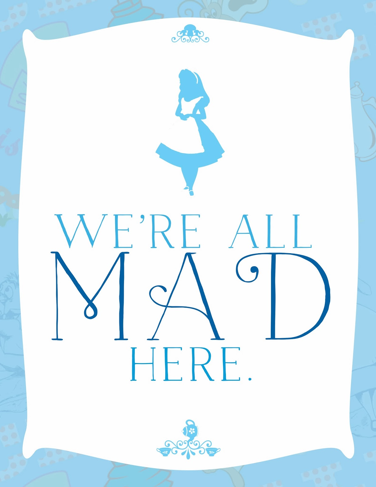 Printable Alice In Wonderland Quotes Quotesgram